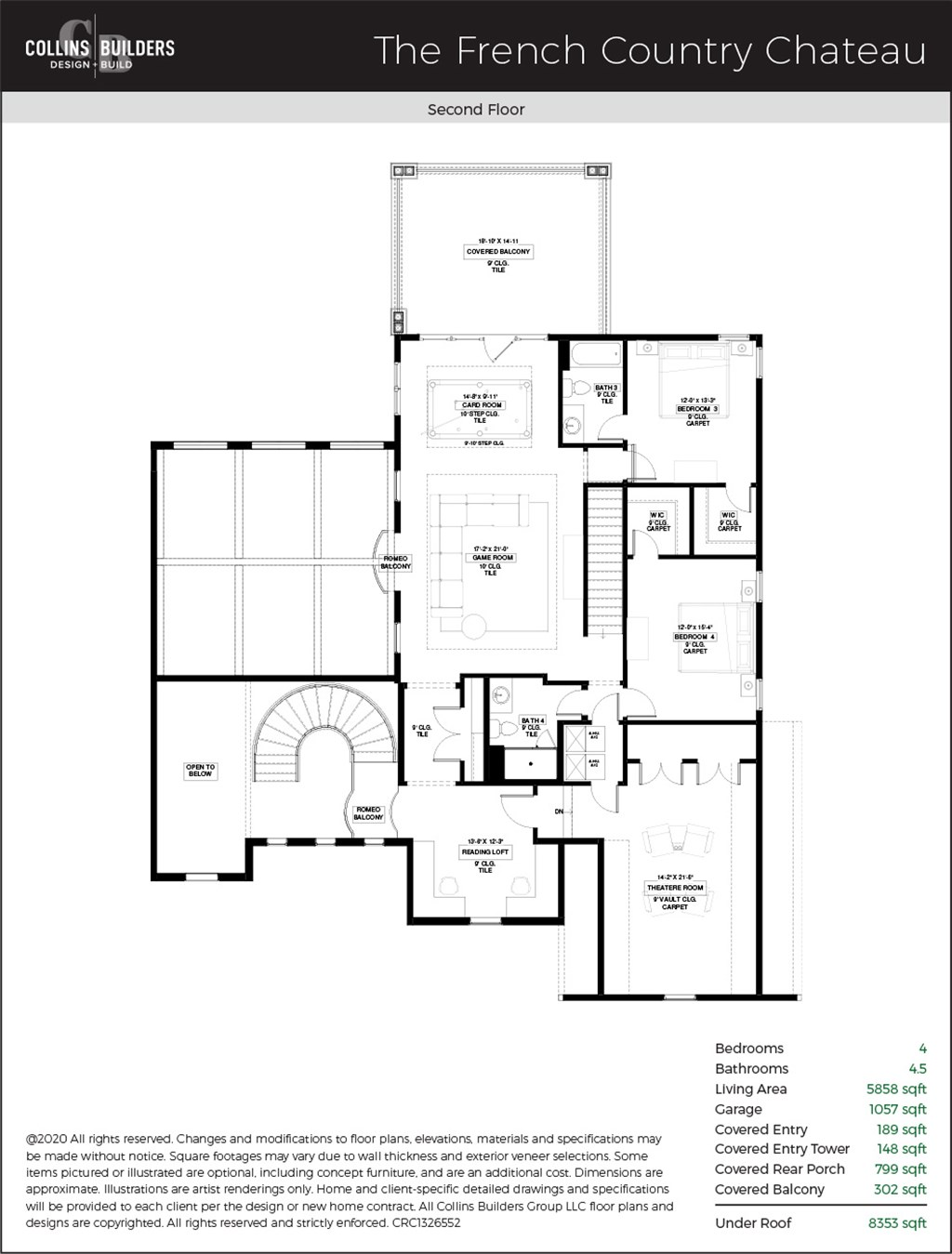 Floor Plan The French County Chateau Second Floor