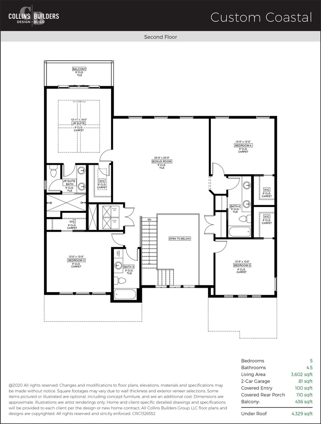 Floor Plan The Cove At Isle Of Palms Custom Coastal Second Floor