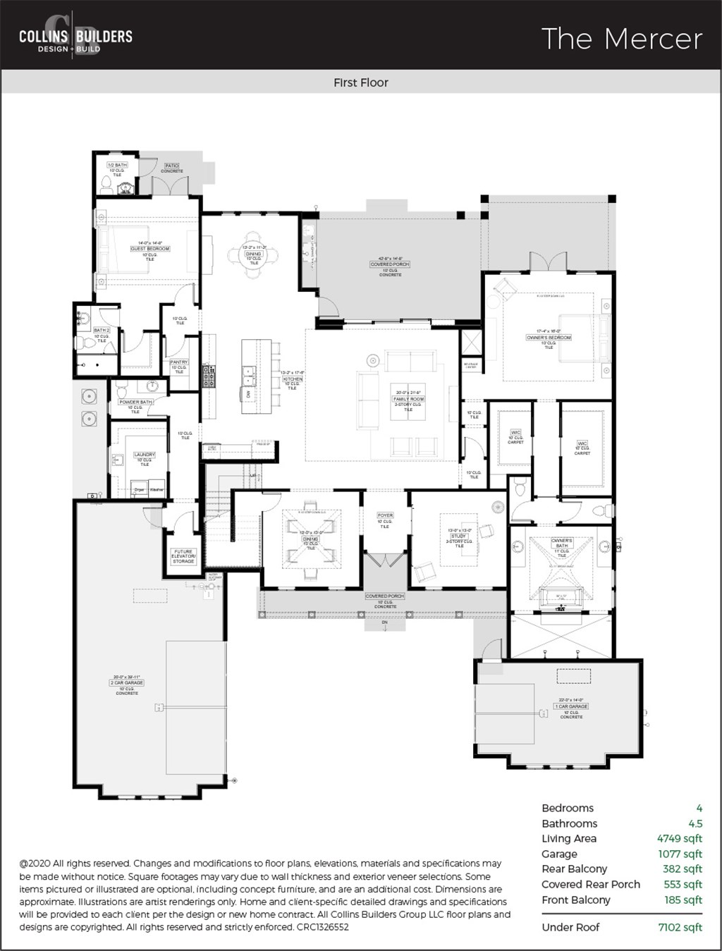 Floor Plan The Mercer First Floor