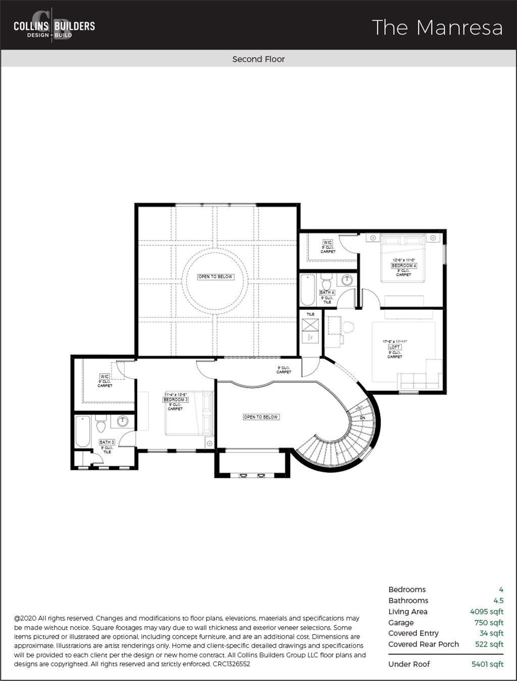 Floor Plan The Manresa Second Floor