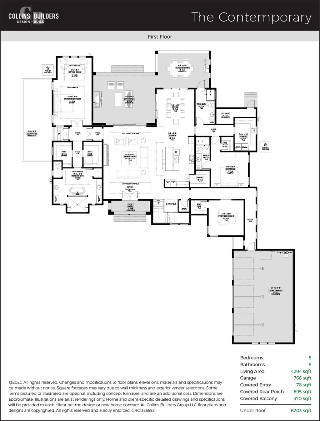 Floor Plan The Contemporary First Floor