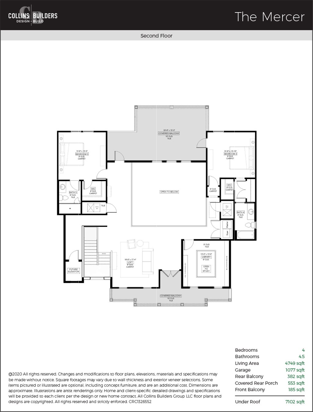 Floor Plan The Mercer Second Floor