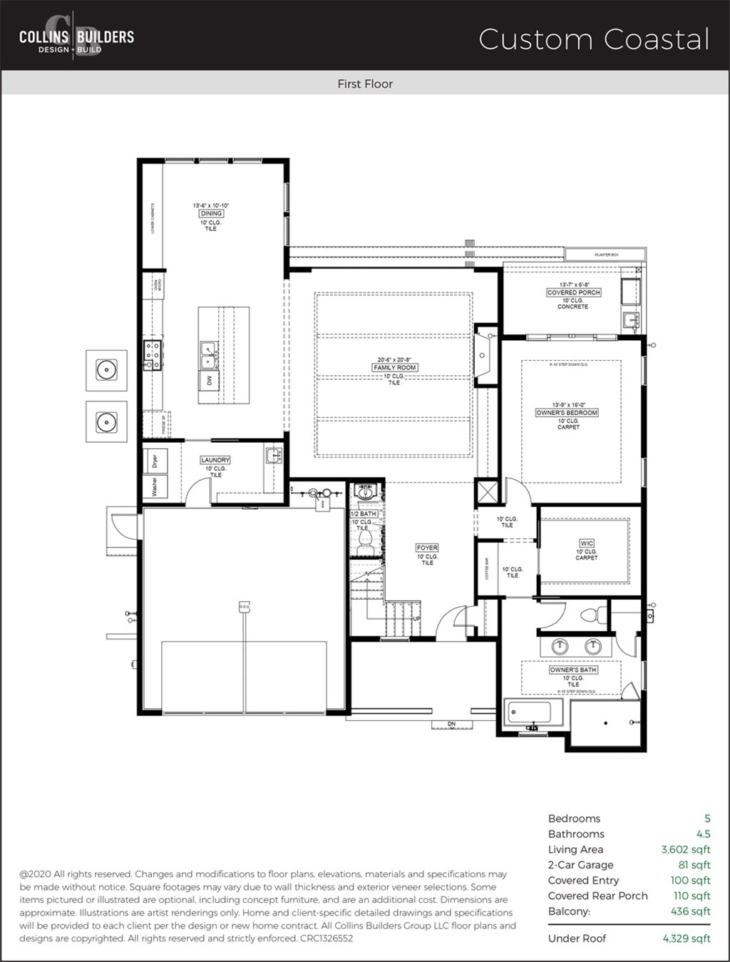 Floor Plan The Cove At Isle Of Palms Custom Coastal First Floor